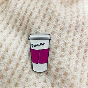Jewelry - Princess Coffee Enamel Pin